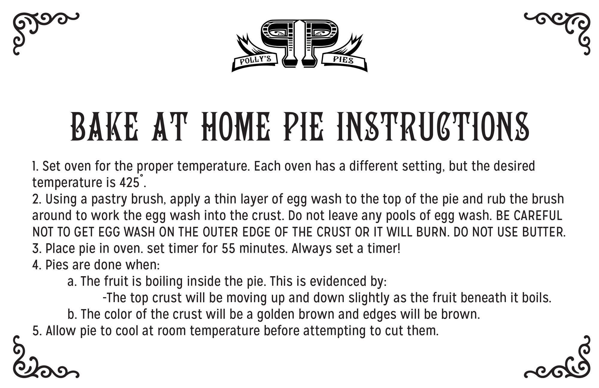 Quiche warming instructions 1
