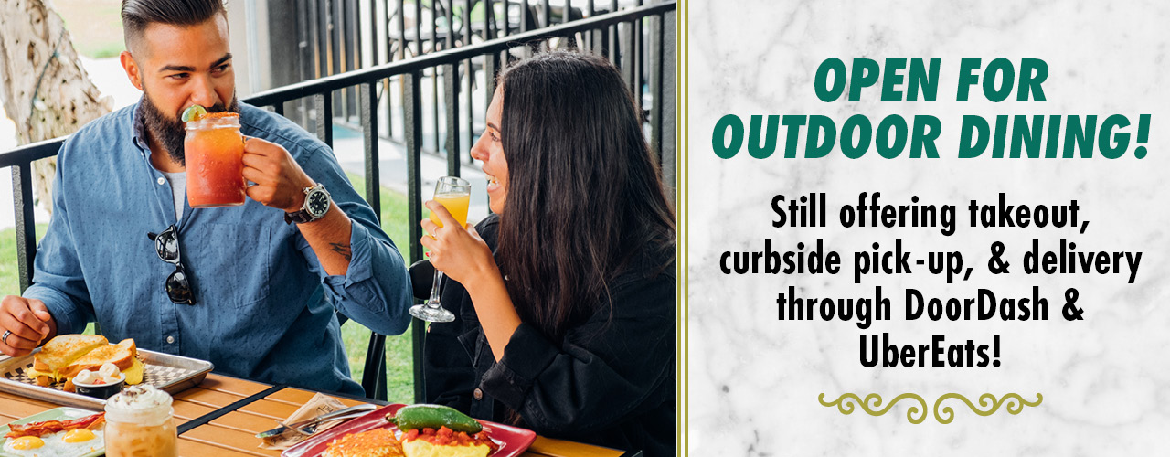 Open for outdoor dining!