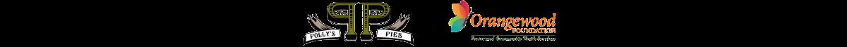 Pollys Pies and Orangewoods Foundation logos