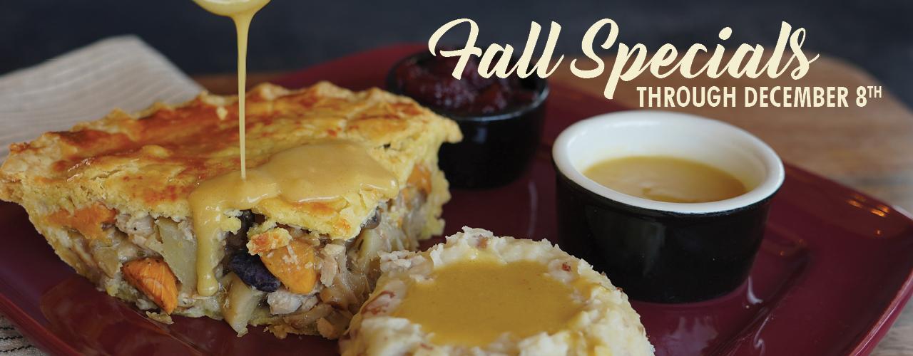 Fall Specials through December 8th
